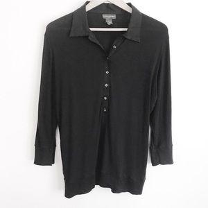 BANANA REPUBLIC Button Up 3/4 Sleeves Cotton XL